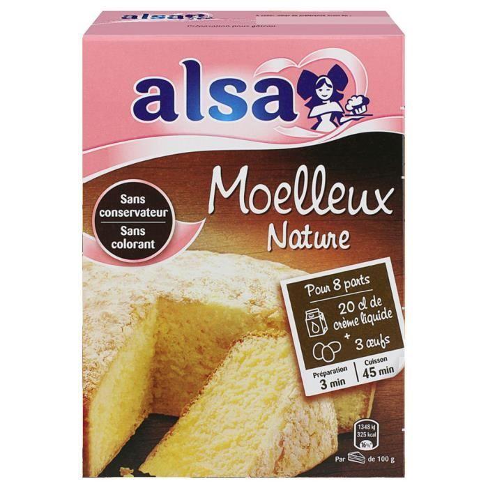 Alsa Préparation Gâteau Moelleux Nature (lot de 2)