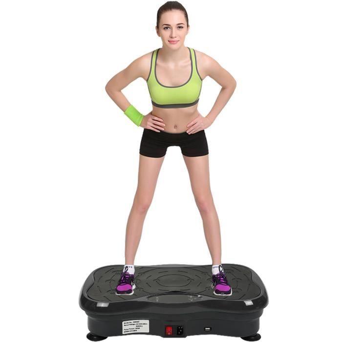 YONGSHIA® Fitness Plateforme Vibrante et Oscillante Ultra Slim - Perte de poids & Brûleur de Graisses à la Maison - Bluetooth