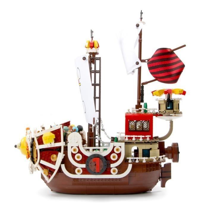 Blocs de construction de modèle de bateau pirate Luffy
