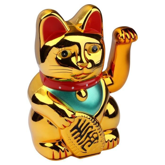 S-o maneki neko chat porte-bonheur chinois or winke chat chat chat (0233)