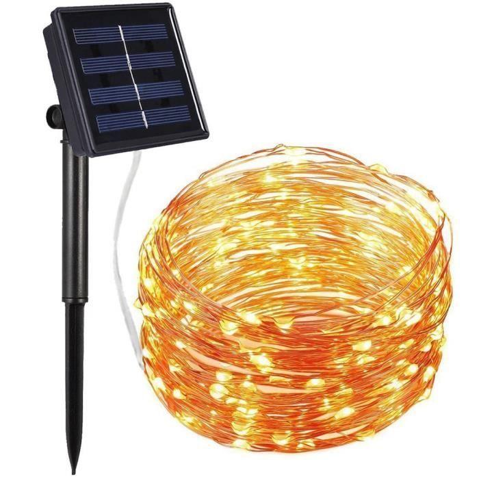 BANDE LED - RUBAN LED 200Led extérieur Solaire Fil de cuivre Lumière GUIRLANDE Party Decor YE_u2264 Jeffrey 2239 zl