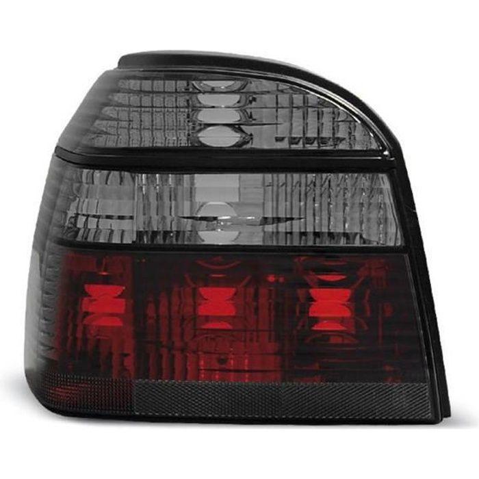 Paire de feux arriere VW Golf 3 91-97 rouge fume