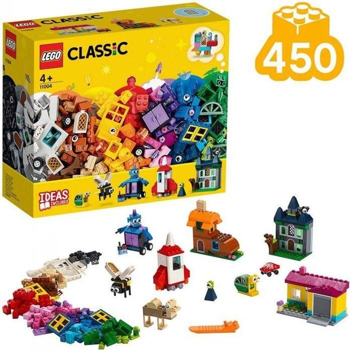 Lego®-Classic Les Fenêtres Créatives Jeu Créatif Avec Des Briques Et Des Éléments Colorés Pour Fille Et Garçon 4 Ans Et Plus, Jouet