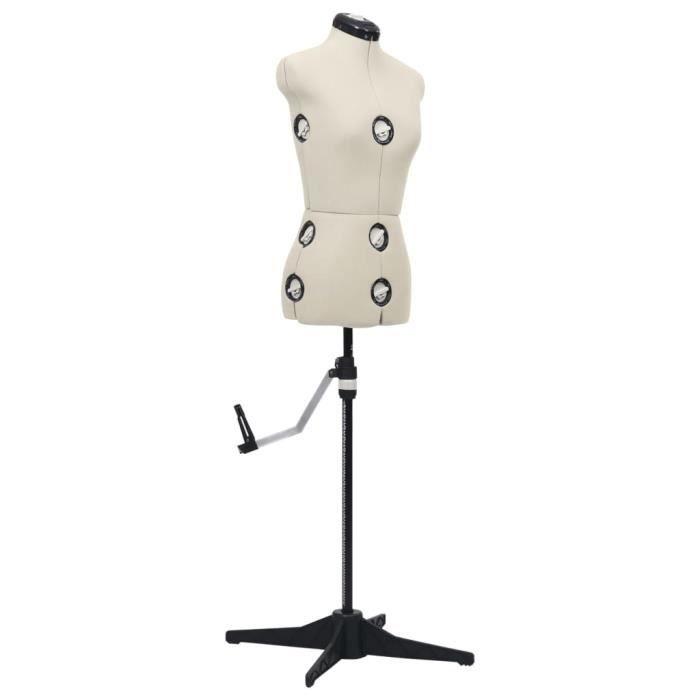 7228Magnifique Mannequin de Couture,de Vitrine,de robe, Mannequin de robe ajustable pour femme Crème S Taille 33-40