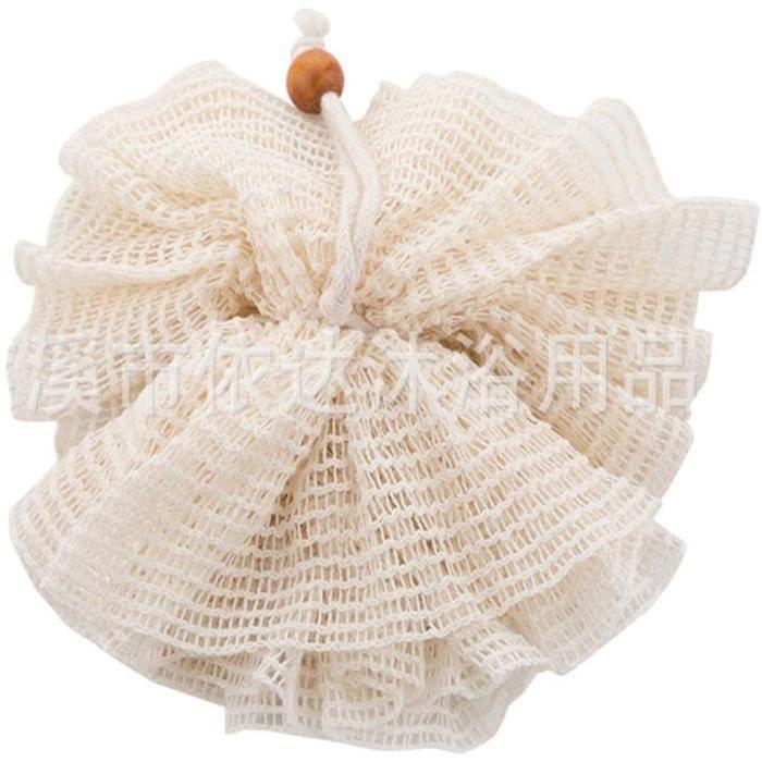 Fleur de Douche Naturel Ramie, Fleurs de Massage, éponges en Maille pour Le Bain