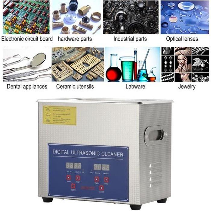 3L 120W Nettoyeur à Ultrasons de Machine Acier Inoxydable avec Affichage numérique