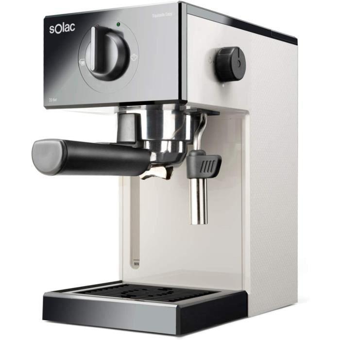 MACHINE A CAFE Solac CE4505 Squissita Easy Ivory Machine agrave expresso 1050W 20 bars Reacuteservoir 15L pour dosette et moulu 98