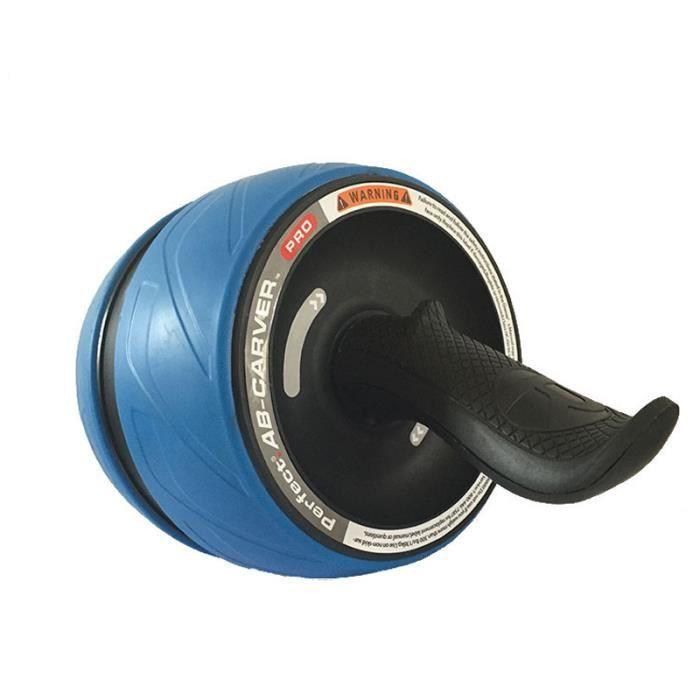 Roue Abdominale Roue AB Roue Fitness Roue Géante pour le fitness et l'entraînement Bleu+Noir