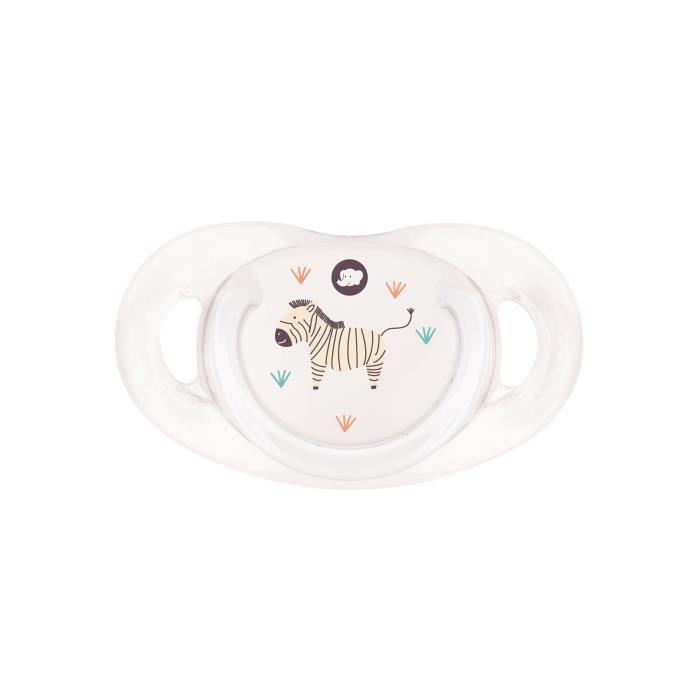 Sucette dental safe - silicone 18/36M - X1 - Blanc (bouton décoré)