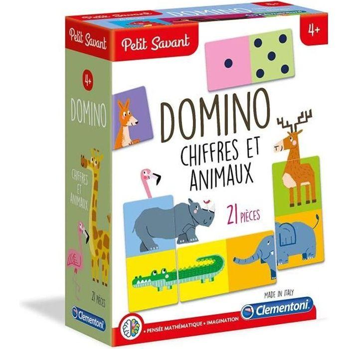 CLEMENTONI Petit Savant - Domino Chiffres et Animaux - 4 ans et +
