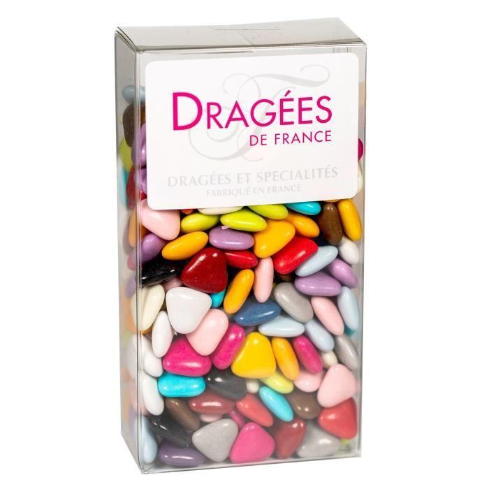 DRAGEES DE France - Petits Cœurs Chocolat - Toutes Couleurs 250G