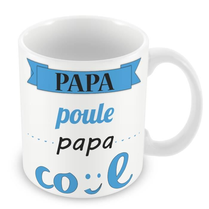 Mug Céramique Tasse Papa Poule Papa Cool Bleu