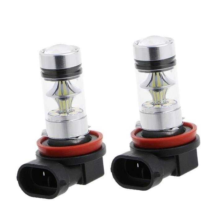 2 Pcs Ampoule LED H11 H8 100W Remplacement Éclairage Lampe Bleu 10000K De Voiture
