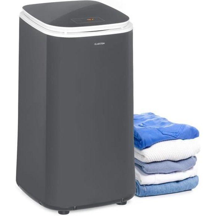 Klarstein Zap Dry Sèche-linge 50 litres 820W , panneau de commande tactile , tambour acier inox , noir