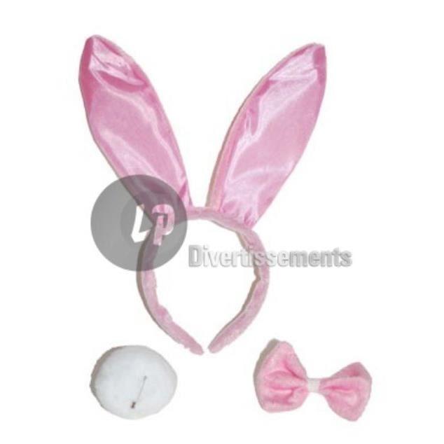 Accessoires déguisement lapin bunny's rose velours