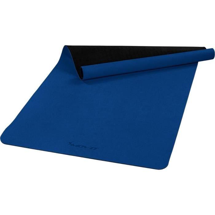 MOVIT Tapis de gymnastique XXL TPE, tapis de pilates, tapis d'exercice premium, tapis de yoga, 190 x 100 x 0,6 cm, bleu roi