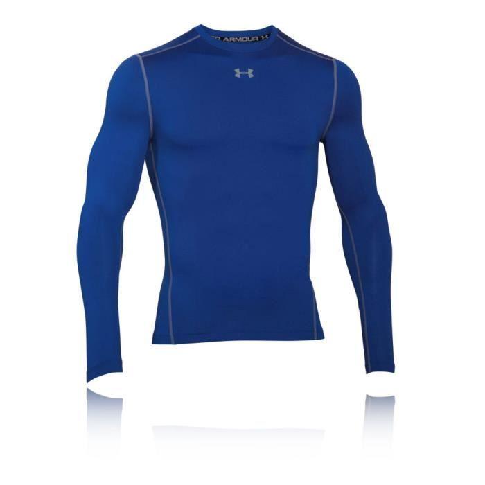 Under Armour Coldgear Armour Compression Top De Sport Running Manche Longue Homme Bleu