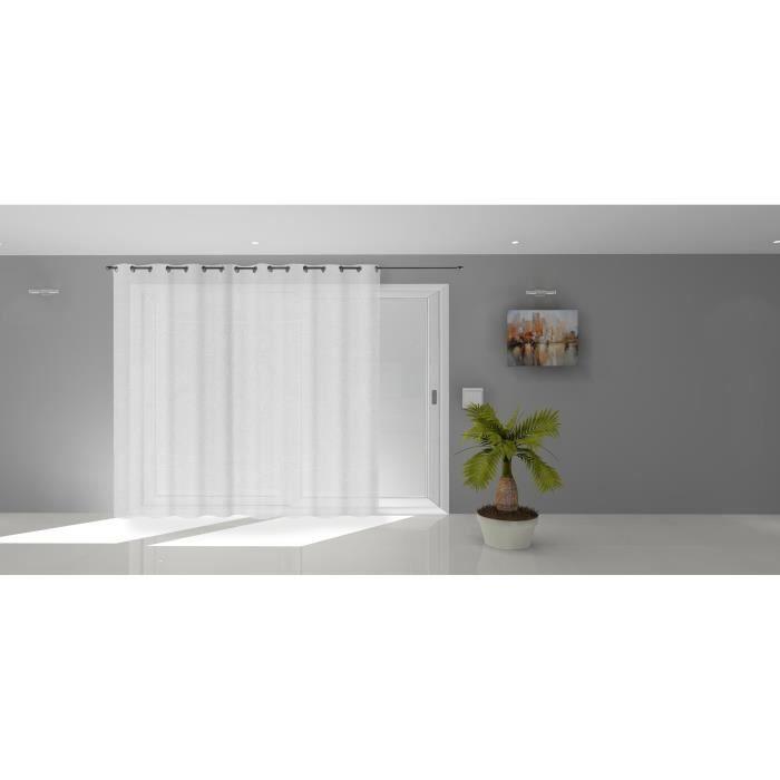 SOLEIL D'OCRE Voile à oeillets Natacha - 280 x 250 cm - Blanc