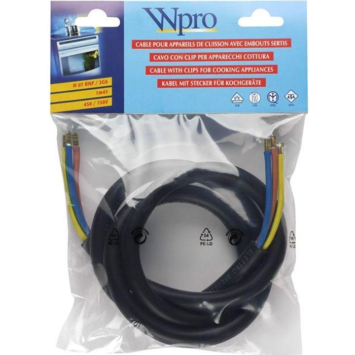WPRO CAB360 Câble Electrique 1.45m (> 5750 watts)