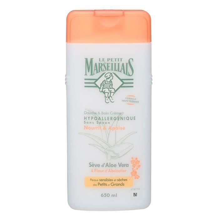 LE PETIT MARSEILLAIS Douche et bain hypoallergénique - Aloe Fleur abricotier - 650 ml