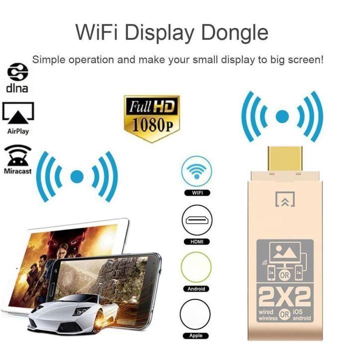 CÂBLE TV - VIDÉO - SON Sans fil WiFi HDMI Display dongle 2.4 GHz TV Stick