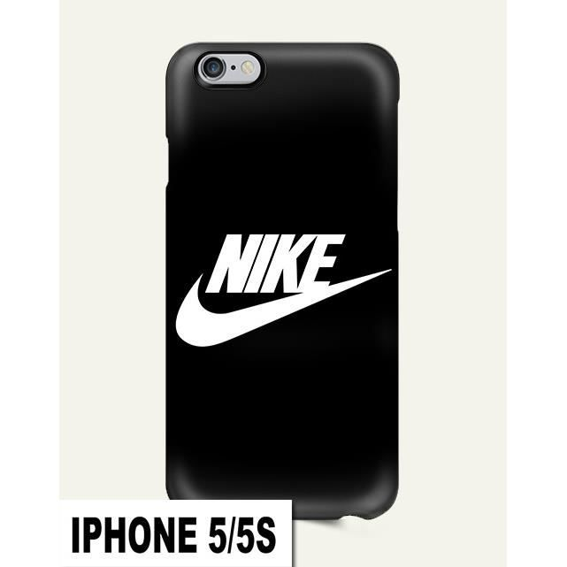 coque iphone 5 5s nike air noir