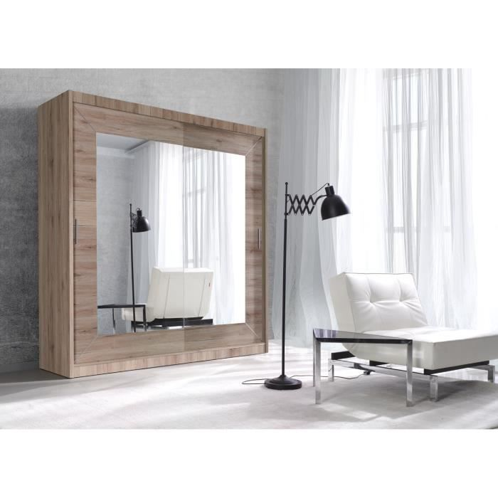 armoire ref clem chene clair 2 m achat vente armoire. Black Bedroom Furniture Sets. Home Design Ideas