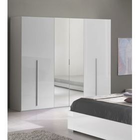 Armoire adulte design 4 portes julietta ayud achat for Meuble chambre adulte contemporain