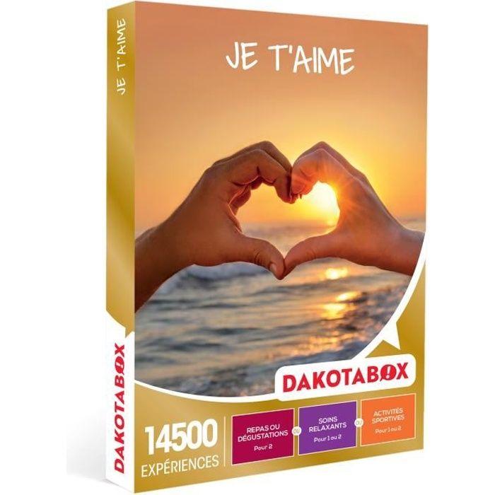 COFFRET SÉJOUR DAKOTABOX - Coffret Cadeau -Je t'aime - 1 activité