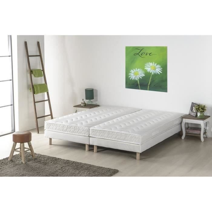 finlandek ensemble matelas sommier unelma 2x80x200 cm. Black Bedroom Furniture Sets. Home Design Ideas