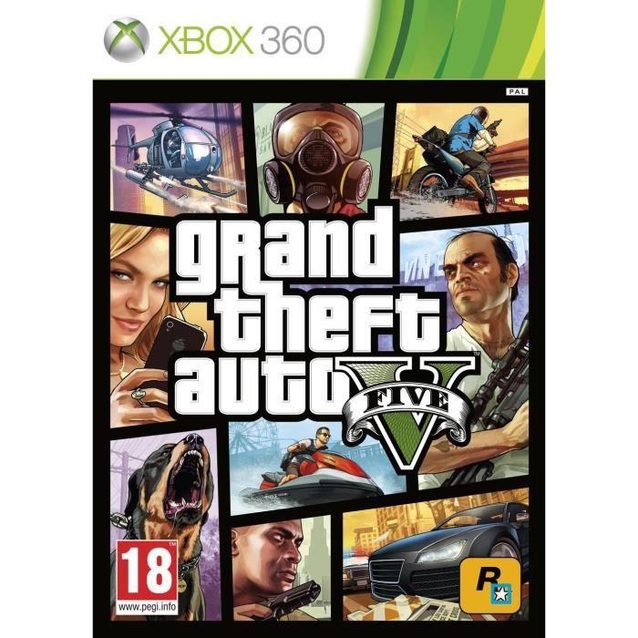 JEU XBOX 360 GTA V Jeu Xbox 360