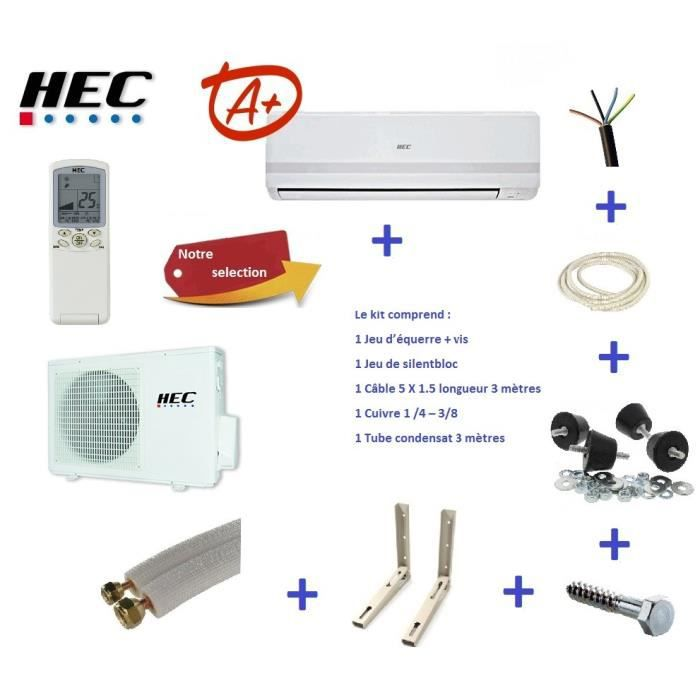 CLIMATISEUR FIXE HAIER Climatiseur revérsible 3.5 kw HEC avec kit d