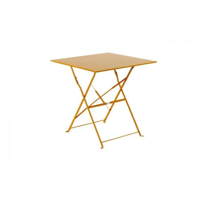 Table carree pliante camargue 70x70cm orange achat for Table a carte pliante