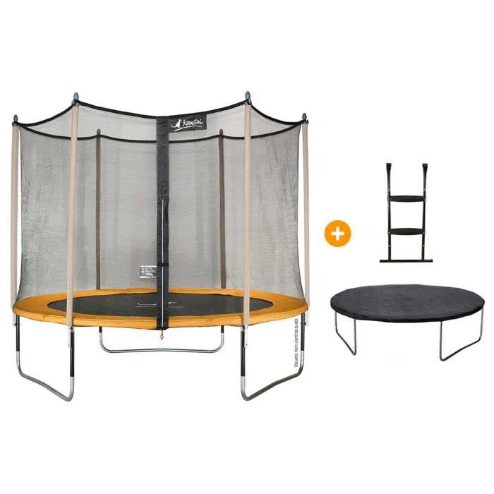 pack trampoline 300cm filet 2 accessoires achat. Black Bedroom Furniture Sets. Home Design Ideas