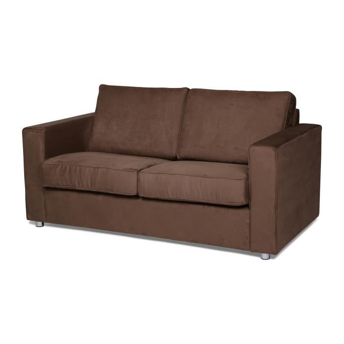 Canap convertible ginger 2 places couchage 120 couleur capuccino - Canape convertible couleur ...