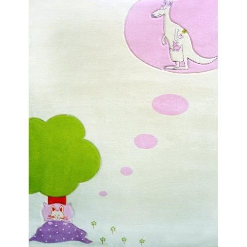 Little Helper Ivi Grand Tapis Pais Hypoallerg Nique Motif R Ve D 39 Enfant Cr Me 134 X 180 Cm