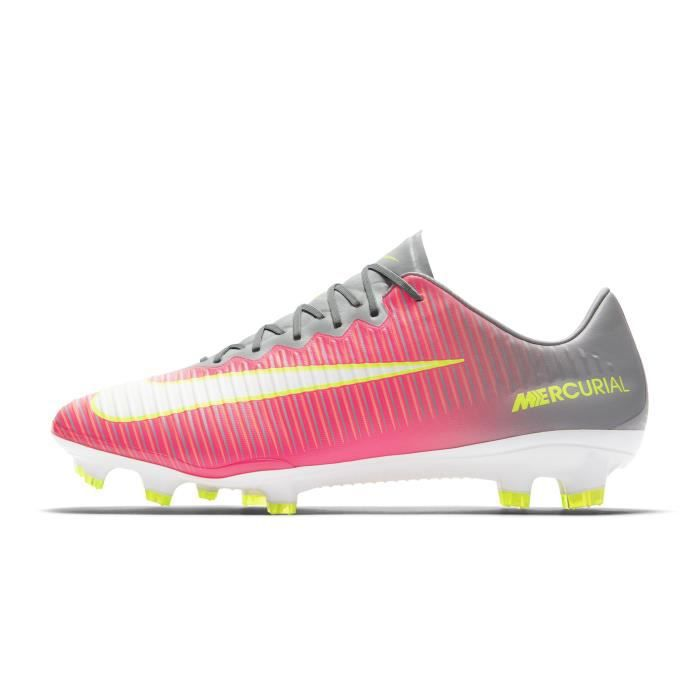 Chaussures football Nike Mercurial Vapor XI FG Rose-Gris ...