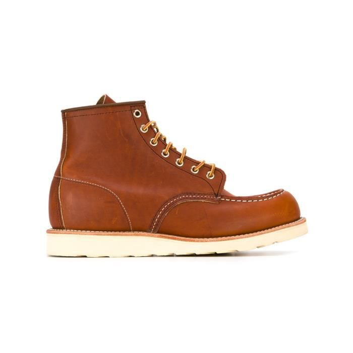 RED WING HOMME 00875RUSSET MARRON CUIR BOTTINES Marron Marron ... 83f7bff3c141