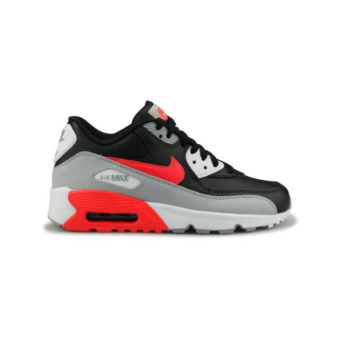 low priced e657b f34ed BASKET Baskets Nike Air Max 90 Leather Junior Noir.