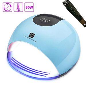 LAMPE UV MANUCURE 80W Lampes UV LED Séchoirs à Ongles Professionnel