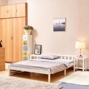 lit pin achat vente lit pin pas cher cdiscount. Black Bedroom Furniture Sets. Home Design Ideas