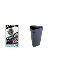 JARDINIÈRE - POT FLEUR  Pack - Pot YSO gris Anthracite avec soucoupe  31L+