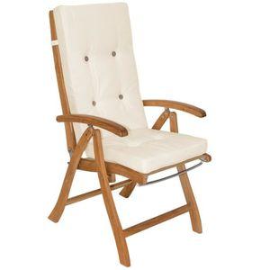 COUSSIN DE CHAISE  6x Coussin De Chaise -Chaise à Dossier Haut Crème