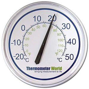 THERMOMÈTRE - BAROMÈTRE Grand Thermomètre de Jardin - Intérieur / Extérieu