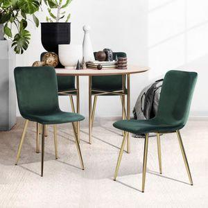 CHAISE Lot de 2 chaises salle à manger, look Scandinave,