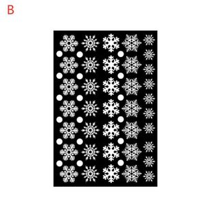 STICKERS DE NOËL 38pcs Sticker noel pour fenetre flocon de neige, F