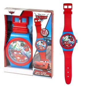 HORLOGE - PENDULE Horloge murale montre Cars XXL 92 cm Disney rouge