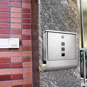 Verrouillable boîtes aux lettres Avec Tube Boîte aux lettres DIN a4 sans signature Boîte aux lettres