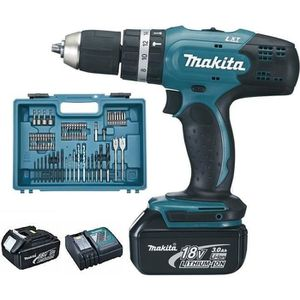 PERCEUSE MAKITA Perceuse à percussion DHP453RFX4 avec 2 bat