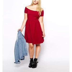 ROBE Robe grande taille robe bustier robe rouge robe de